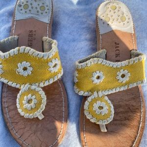 Jack Rogers yellow sandals